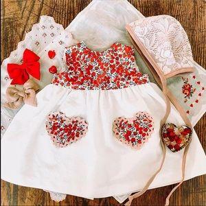 Handmade vintage linen dress size 6-12 months